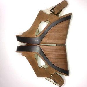 MICHAEL KORS Josephine Suede Wedge Platform Sandal